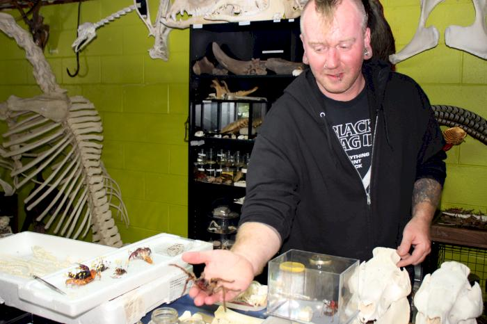 STEM in DSM: Taxidermist and exotic-animal owner shows off his unique collection